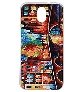 City Canvas Exclusive Rubberised Back Case Cover for HTC Desire 526G Plus (526G+)