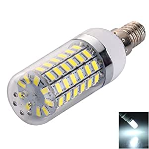 E14 12W 69 LED 5730SMD 1200LM 6000-6500K White LED Corn Lamp (220-240V)
