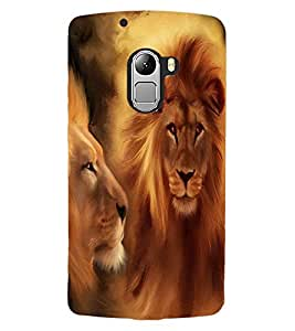 ColourCraft Lions Beautiful Painting Design Back Case Cover for LENOVO VIBE K4 NOTE