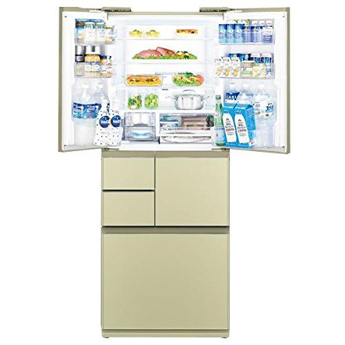 シャープ 474L 6ドア冷蔵庫(ゴールド系・シャンパンゴールド)SHARP プラズマクラスター冷蔵庫 SJ-GT47A-N