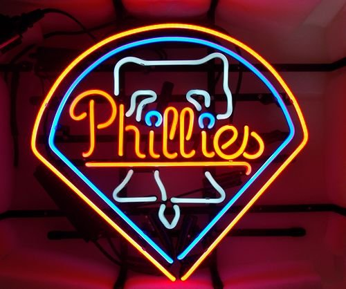 NEW PHILADELPHIA PHILLIES BEER REAL GLASS NEON LIGHT BAR PUB SIGN 19*15 at Amazon.com