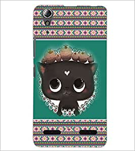 PrintDhaba Kitty D-3685 Back Case Cover for LENOVO A6000 (Multi-Coloured)