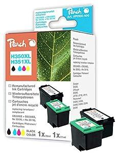 Peach 316259 cartucho de tinta - Cartucho de tinta para impresoras (Negro, Cian, Magenta, Amarillo, CB336EE No 350XL, CB338EE No 351XL, HP DeskJet D 4200 Series HP DeskJet D 4260 HP DeskJet D 4300 Series HP DeskJet D 4360, 13 cm, 14 cm, 3,2 cm)  Oficina y papelería más información y comentarios