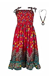 Pikaboo Strappy Summer Dress - Hot Pink