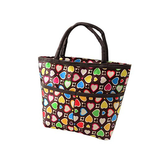 Oksale® Thermal Insulated Cooler Waterproof Oxford Cloth Picnic Tote Organizer Food Bento Storage Lunch Box Bag Handbag with Zipper Closure (1) (Quilted Zipper Tote compare prices)