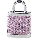 Rhinestones Padlock Shape USB 2.0 16GB Flash Drive with Chain PINK SCUD1-95242