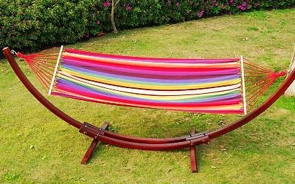 Sale Outsunny Cypress Wooden Arc Colorful Patio Hammock