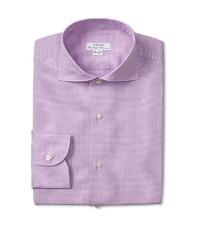 Orian Men's Check Poplin Slim Fit Dress Shirt