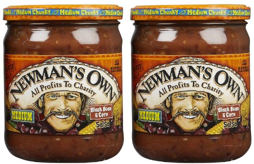 Newman's Own Black Bean & Corn Salsa, 16 oz, 2 pk (Black Bean And Corn Salsa compare prices)