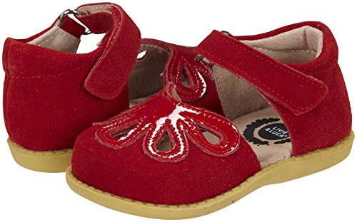 Livie & Luca Girls' Petal (Infant/Toddler) - Red Suede - 10 Toddler front-503014