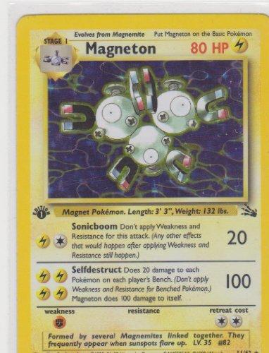 Pokemon Card - Fossil 11/64 - Magneton (Holo-Foil) **1St Edition** Rare!