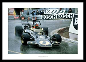 Emerson Fittipaldi 1972 Monaco Grand Prix Formula 1 Photo Memorabilia