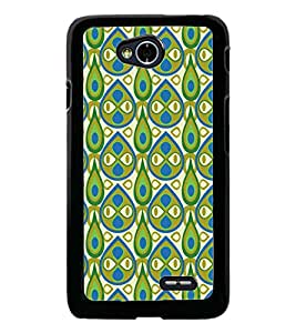 PrintDhaba Pattern D-5407 Back Case Cover for LG L90 (Multi-Coloured)