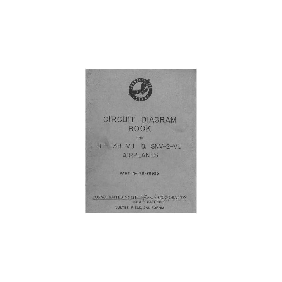 vultee bt 13 snv 2 aircraft circuit diagram manual vultee books