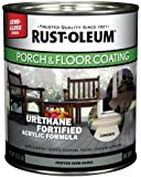 Rust-Oleum 244164 Porch Floor Paint, Pewter Semi-Gloss, 1-Quart
