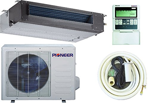 Pioneer Concealed Duct Mini Split Inverter Air Conditioner with Heat Pump, 24000 BTU (2.0 Ton) Full Set (Pioneer Mini Split Inverter compare prices)