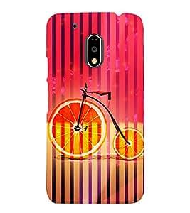 Orange Cycle 3D Hard Polycarbonate Designer Back Case Cover for Motorola Moto G4