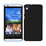 AE Rubbrized Matte Finish Hard Back Cover Case For HTC DESIRE 820 BLACK