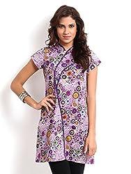Miraaya Women's Cotton Kurta (Purple, XS)