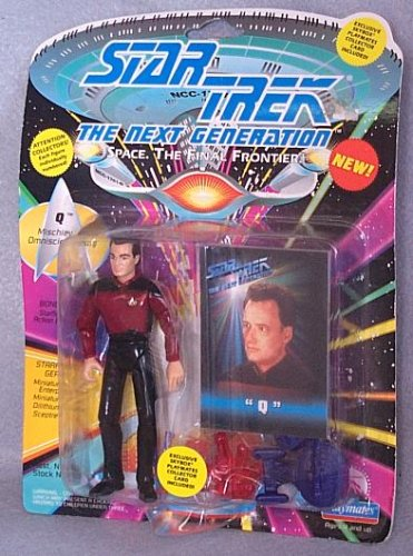 Star Trek The Next Generation Q in Starfleet Uniform 4 inch Action Figure