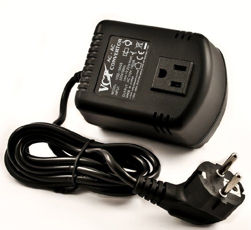 Vct Vod100Gs - 100 Watt Step Down Voltage Converter With Euro Plug For Travel To Europe & Asia 220V/240V.