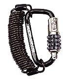 コミネ(Komine) LK-115 Carabiner Wire Lock Black 09-115