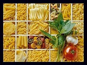 kunstdruck poster 80x60 pasta nudeln bild k che deko gastronomie italien neu. Black Bedroom Furniture Sets. Home Design Ideas