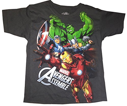 MARVEL AVENGERS ASSEMBLE - Iron Man Hulk Captain America - Kids T-shirt