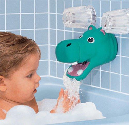[해외]새로운 하마 나 코끼리 욕조 수도꼭지 주둥이 커버 보호대 가드 & A; /New Hippo or Elephant Bath Tub Faucet Spout Cover Protector Guard & Bubb