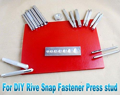 20 Stlye Leathercraft Sewing Tool Punch Die Kit Fr Rive Snap Fastener Press Stud