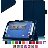 Fintie Folio Classic Leather Case for Samsung Galaxy Tab 3 7.0 inch Tablet - Navy
