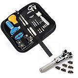 BABAN 13pcs Uhrmacherwerkzeug Uhr Werkzeug Tasche Reparatur Set Uhrwerkzeug Gehäuse Öffner