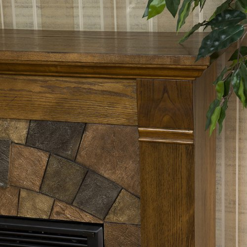 Elkmont Salem Fireplace Antique Oak/Electric