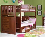 51 DZRYUECL. SL160  Stair Step Bunk Bed with 3 Drawer Bunk Pedestal