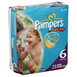 Pampers Diapers, Size 6 (35+ lb), Sesame Street, Jumbo 23 diapers