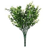 【ノーブランド品】人工観葉植物 人工植物 小葉 造花 人工ユーカリ草 2束 ホーム インテリア
