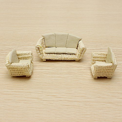 Scenery Accessories by ETS The Model Material Indoor Scene Decoration Ceramics Sofa Set 1:25
