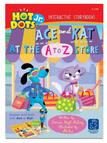 Educational Insights Hot Dots Jr. Story Books Ace & Kat: A To Z Store