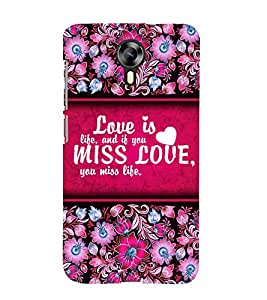 Love Is Life 3D Hard Polycarbonate Designer Back Case Cover for Micromax Canvas Xpress 2 E313 :: Micromax Canvas Xpress 2 (2nd Gen)