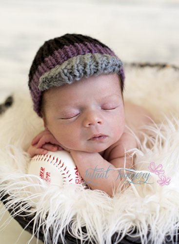 Baseball Cap Knitting Pattern - All Sizes Newborn Through 1-3 Years Included