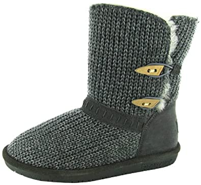 Bearpaw 'Abigail' Low Knit Boots (9 B(M) US, Grey)