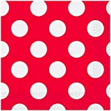 16 Count Red Polka Dot Luncheon Napkins