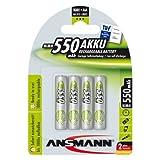 Ansmann ANSAAA550MaxE AAA 550mAh Rechargeable Batteries Carded 4