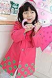 (ナインスコード) 9thCode キッズ レインコート 女の子 男の子 かわいい水玉 ピンク XL(115~130cm)