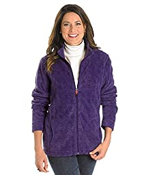 Woolrich Women\'s Andes Printed Fleece Jacket, AMETHYST (Blue), Size XXL