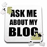 InspirationzStore Typography - Ask me about my Blog - self-promotion text for blogger - advertising advert promoting advertise - 10x10 Inch Puzzle (pzl_161915_2)