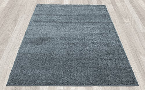 new shag collection teal blue color solid shag rug 5 39 x7 39 thick shaggy area rug rectangle shape. Black Bedroom Furniture Sets. Home Design Ideas