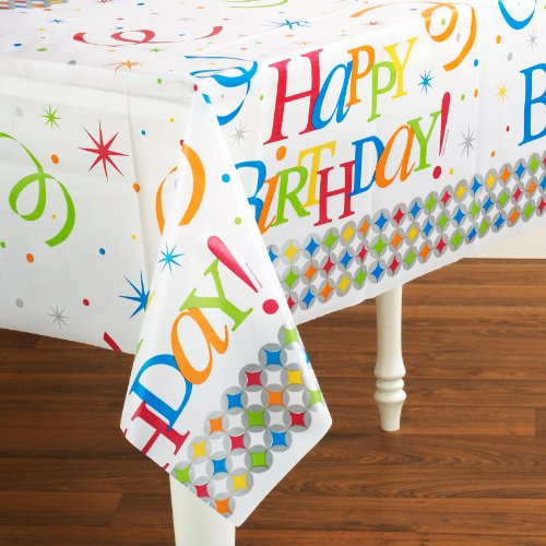 Creative Converting Mens Celebrate In Style Plastic Tablecover Black Medium