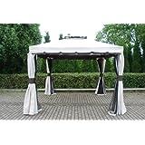 Simply Wood Pavillon mit Aluminiumrahmen, pilz- / capuccinofarben