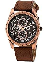 WATCH ME Brown Leather Black Dial Watch For Men Brown Leather Black Dial Watch For Men Watch MeAL-179